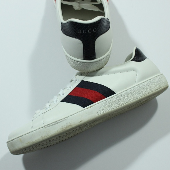 07f678ec074 Gucci Other - Authentic Gucci Ace Leather Sneaker White Navy Red